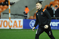 Blackpool's Jordan Thorniley during the pre-match warm-up <br /> <br /> Photographer Kevin Barnes/CameraSport<br /> <br /> Emirates FA Cup Third Round Replay - Blackpool v Reading - Tuesday 14th January 2020 - Bloomfield Road - Blackpool<br />  <br /> World Copyright © 2020 CameraSport. All rights reserved. 43 Linden Ave. Countesthorpe. Leicester. England. LE8 5PG - Tel: +44 (0) 116 277 4147 - admin@camerasport.com - www.camerasport.com
