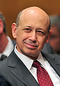 """Lloyd Blankfein, Chairman and Chief Executive Officer, The Goldman Sachs Group, Inc. (GSI), listens to the testimony of the previous panel as he prepares to testify before the United States Senate Permanent Subcommittee on Investigations hearing on """"Wall Street and the Financial Crisis: The Role of Investment Banks"""" using Goldman Sachs as a case study on Tuesday, April 27, 2010. .Credit: Ron Sachs / CNP.(RESTRICTION: NO New York or New Jersey Newspapers or newspapers within a 75 mile radius of New York City)"""