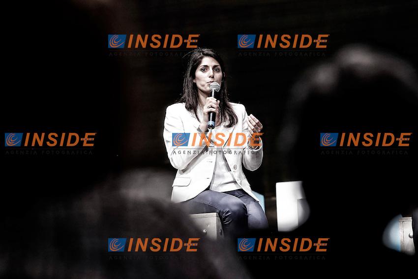 Virginia Raggi<br /> Roma 10-06-2016 Palazzo dei Congressi. Business city di Unirete. Confronto tra i candidati sindaco di Roma.<br /> Photo Samantha Zucchi Insidefoto