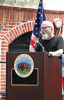 NEW YORK, NY - JUNE 27:  Stonewall Riots veteran and artist Tommy Lanigan-Schmidt speaking at the Stonewall Inn National Monument designation ceremony the first LGBTQ institution to receive national monument status in New York, New York on June 27, 2016.  Photo Credit: Rainmaker Photo/MediaPunch