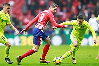 Atletico de Madrid's Fernando Torres (l) and Getafe CF's Dani Pacheco during La Liga match. January 6,2018. (ALTERPHOTOS/Acero) /NortePhoto.com NORTEPHOTOMEXICO