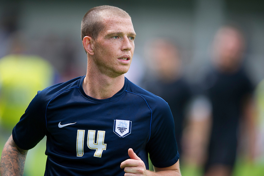 Preston North End's Joe Garner<br /> <br />  (Photo by Stephen White/CameraSport) <br /> <br /> Football Friendly - Rochdale v Preston North End - Saturday 27th July 2013 - Spotland - Rochdale<br /> <br /> &copy; CameraSport - 43 Linden Ave. Countesthorpe. Leicester. England. LE8 5PG - Tel: +44 (0) 116 277 4147 - admin@camerasport.com - www.camerasport.com