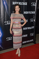 "LOS ANGELES - OCT 16:  Perrey Reeves at the ""High Voltage"" Los Angeles Red Carpet Premiere at the TCL Chinese 6 Theater on October 16, 2018 in Los Angeles, CA"