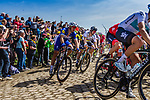 Peloton with Peter SAGAN from Slovakia of Bora-Hansgrohe at the 4 star cobblestone sector 26 from Fontaine-au-Tertre to Quievy during the 2018 Paris-Roubaix race, France, 8 April 2018, Photo by Thomas van Bracht / PelotonPhotos.com | All photos usage must carry mandatory copyright credit (Peloton Photos | Thomas van Bracht)
