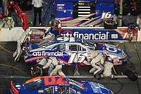 Jul. 4, 2008; Daytona Beach, FL, USA; Nascar Nationwide Series driver Colin Braun pits during the Winn-Dixie 250 at Daytona International Speedway. Mandatory Credit: Mark J. Rebilas-