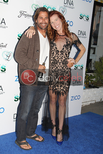 Frank Carrona, Tanna Frederick<br /> at the Tanna Frederick &amp; Project Save Our Surf Partnership Launch With DNA Health Institute, Larissa Love Cosmetics, Santa Monica, CA 05-13-15<br /> Dave Edwards/DailyCeleb.com 818-249-4998
