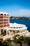 BERMUDA. Hamilton. View of Marcus' Restaurant at the Hamilton Princess & Beach Club Hotel.