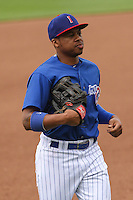 Iowa Cubs outfielder Adron Chambers (11) during a Pacific Coast League game against the Colorado Springs Sky Sox on May 10th, 2015 at Principal Park in Des Moines, Iowa.  Iowa defeated Colorado Springs 14-2.  (Brad Krause/Four Seam Images)
