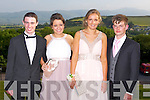 DEBS BALL: Enjoying the ISK debs at the Ballyroe Heights hotel, Tralee on Thursday l-r: Jake Trant, Aoife Healy, Ella Keane and Seamus O'Shea.