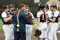 NWA Democrat-Gazette/CHARLIE KAIJO Rogers Heritage High School head coach Tiffany Taylor talks to her players during the 6A State Softball Tournament, Thursday, May 9, 2019 at Tiger Athletic Complex at Bentonville High School in Bentonville. Rogers Heritage High School lost to Northside High School 8-6