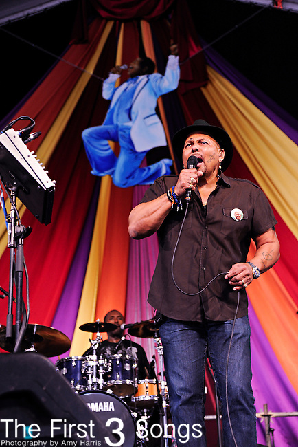 Aaron Neville performs during the New Orleans Jazz & Heritage Festival in New Orleans, LA on May 7, 2011.