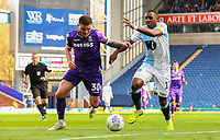 Blackburn Rovers' Amari'i Bell vies for possession with Stoke City's Tom Edwards<br /> <br /> Photographer Alex Dodd/CameraSport<br /> <br /> The EFL Sky Bet Championship - Blackburn Rovers v Stoke City - Saturday 6th April 2019 - Ewood Park - Blackburn<br /> <br /> World Copyright © 2019 CameraSport. All rights reserved. 43 Linden Ave. Countesthorpe. Leicester. England. LE8 5PG - Tel: +44 (0) 116 277 4147 - admin@camerasport.com - www.camerasport.com