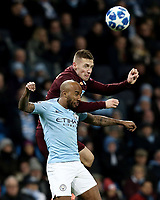 Manchester City's Fabian Delph vies for possession with 1899 Hoffenheim's Pavel Kaderabek<br /> <br /> Photographer Rich Linley/CameraSport<br /> <br /> UEFA Champions League Group F - Manchester City v TSG 1899 Hoffenheim - Wednesday 12th December 2018 - The Etihad - Manchester<br />  <br /> World Copyright © 2018 CameraSport. All rights reserved. 43 Linden Ave. Countesthorpe. Leicester. England. LE8 5PG - Tel: +44 (0) 116 277 4147 - admin@camerasport.com - www.camerasport.com