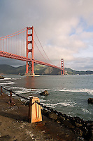 Golden Gate Bridge from Fort Point, a National Historic Site, San Francisco, California
