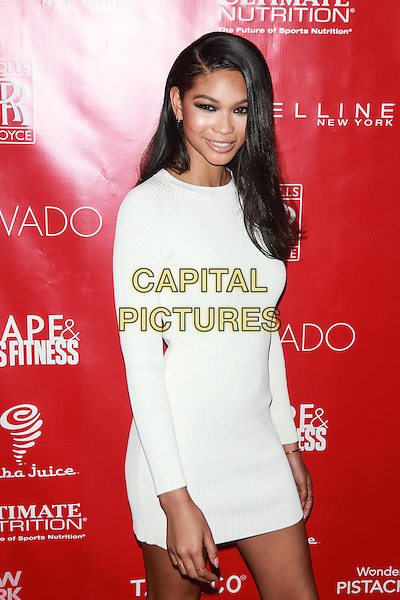 New York, NY- January 31: Chanel Iman at Shape &amp; Men's Fitness Kickoff Party at Cipriani 42nd Street on January 31, 2014 in New York City.  <br /> CAP/MPI/COR<br /> &copy;Corredor99/ MediaPunch/Capital Pictures