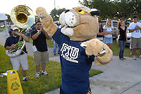 18 April 2008:  Florida International's mascot, Roary, fires up the crowd prior to the FIU Spring Game at the University Park Soccer Field in Miami, Florida.