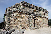 Temple on Nohoch Mul pyramid, East Coast Style (similar to those in Tulum), with two niches depicting the Descending God, 14th century AD, Quintana Roo Mayan site, 600-900 AD, Coba, Mexico. Picture by Manuel Cohen