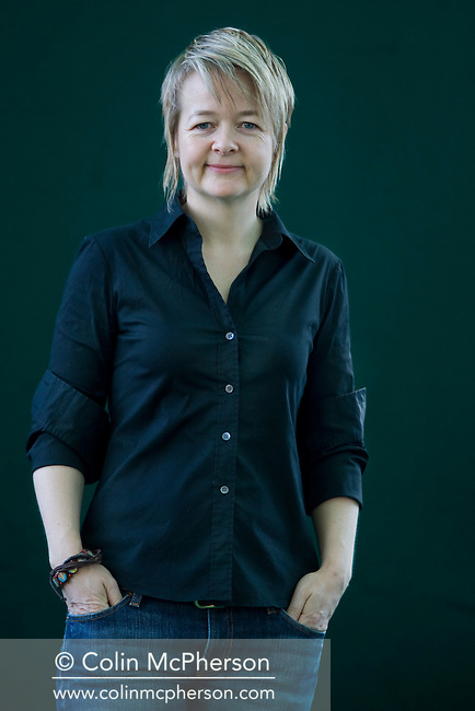 Booker Prize-nominated English writer Sarah Waters, pictured at the Edinburgh International Book Festival where she talked about her new book entitled 'The Little Stranger'. The three-week event is the world's biggest literary festival and is held during the annual Edinburgh Festival. The 2009 event featured talks and presentations by more than 500 authors from around the world.