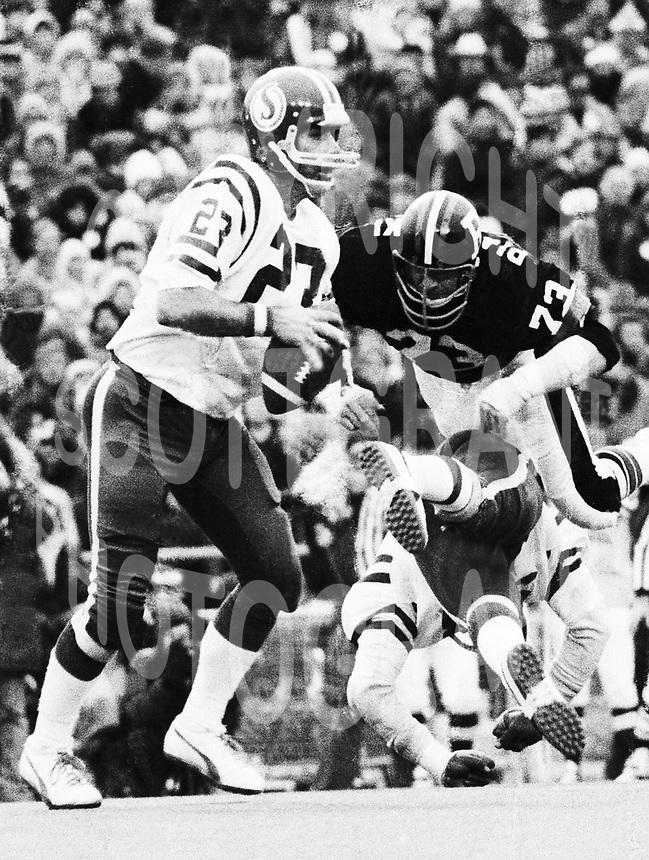 Ron Lancaster Saskatchewan Roughriders quarterback from 1976 Grey Cup in Toronto. Copyright photograph Scott Grant