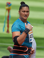 Valerie Adams of New Zealand (Shot Put) during the Sainsbury's Anniversary Games, Athletics event at the Olympic Park, London, England on 25 July 2015. Photo by Andy Rowland.