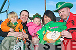 St Paddy's: Gearing up for the St Patrick's Day parade in Ballyheigue already are Risteard and young Darragh O Fuarain, Margaret Dineen, little Ellie Walsh and Paul Dineen. The committee are looking for volunteers to help organise next month's parade.