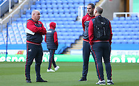 Swansea City assistant coach Nigel Gibbs talks with Swansea City manager Paul Clement prior to kick off of the Carabao Cup Third Round match between Reading and Swansea City at Madejski Stadium, Reading, England, UK. Tuesday 19 September 2017