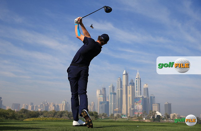 Thomas Pieters (BEL) from the 8th tee during the Pro-Am at the 2016 Omega Dubai Desert Classic, played on the Emirates Golf Club, Dubai, United Arab Emirates.  03/02/2016. Picture: Golffile | David Lloyd<br /> <br /> All photos usage must carry mandatory copyright credit (&copy; Golffile | David Lloyd)
