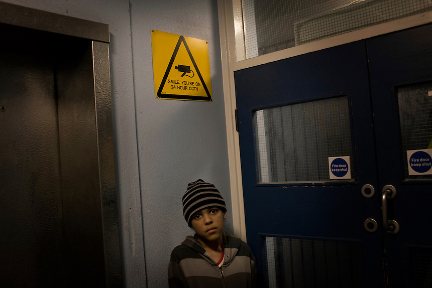 Ben Ngondo at the entrance of the Alexandra Court Temporary Hostel. The Hostel is owned and maintained by Hackney Council and charges residents £350 per week for a one-bedroom flat.