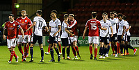 Players from both sides shake hands after Bolton's 2-1 victory over Crewe Alexandra<br /> <br /> Photographer Andrew Kearns/CameraSport<br /> <br /> The Carabao Cup - Crewe Alexandra v Bolton Wanderers - Wednesday 9th August 2017 - Alexandra Stadium - Crewe<br />  <br /> World Copyright &copy; 2017 CameraSport. All rights reserved. 43 Linden Ave. Countesthorpe. Leicester. England. LE8 5PG - Tel: +44 (0) 116 277 4147 - admin@camerasport.com - www.camerasport.com