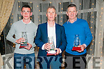Kerry Athletics Awards Night: Pictured at the Kerry Athletics Awards night at the Listowel Arms Hotel on Saturday night last were Darragh Brown, Brendan King representing his son Adam & Patsy O'Connor.