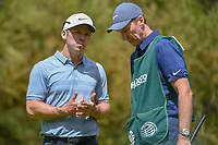 Paul Casey (GBR) chats with his caddie after sinking his putt on 11 during round 2 of the World Golf Championships, Mexico, Club De Golf Chapultepec, Mexico City, Mexico. 2/22/2019.<br /> Picture: Golffile | Ken Murray<br /> <br /> <br /> All photo usage must carry mandatory copyright credit (&copy; Golffile | Ken Murray)