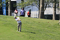 Charley Hoffman (USA) plays his 2nd shot on the 14th hole during Thursday's Round 1 of the 2017 PGA Championship held at Quail Hollow Golf Club, Charlotte, North Carolina, USA. 10th August 2017.<br /> Picture: Eoin Clarke | Golffile<br /> <br /> <br /> All photos usage must carry mandatory copyright credit (&copy; Golffile | Eoin Clarke)