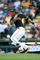 Pittsburgh Pirates outfielder Willy Garcia (73) during a Spring Training game against the New York Yankees on March 5, 2015 at McKechnie Field in Bradenton, Florida.  New York defeated Pittsburgh 2-1.  (Mike Janes/Four Seam Images)