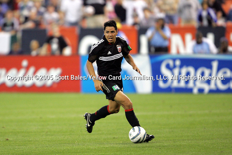21 May 2005: DC United's Christian Gomez. DC United defeated the Kansas City Wizards 3-2 at RFK Stadium in Washington, DC in a regular season Major League Soccer game. .