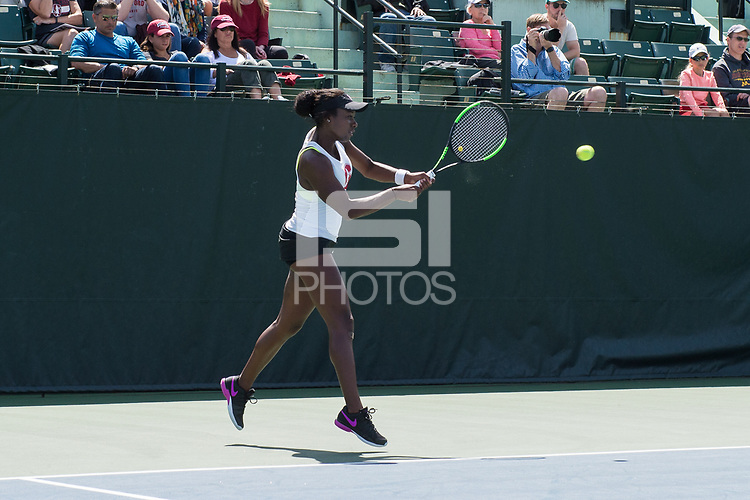 Stanford, CA, April 15, 2017<br /> Stanford Women's Tennis vs. University of Washington, for Senior Day at Taube Family Stadium. Stanford won 6-1.