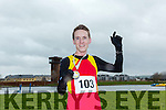 Derek Griffin, Tralee winner of  the Kerry's Eye Valentines Weekend 10 mile road race at the Tralee Bay Wetlands on Sunday