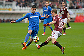 18th March 2018, Stadio Olimpico di Torino, Turin, Italy; Serie A football, Torino versus Fiorentina; Giovanni Simeone and Cristian Ansaldi challenge for the ball