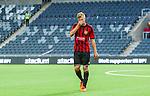 Stockholm 2014-07-31 Fotboll Europa League IF Brommapojkarna - Torino FC :  <br /> Brommapojkarnas Martin Falkeborn ser nedst&auml;md ut n&auml;r han g&aring;r av planen i Tele2 Arena efter f&ouml;rlusten mot Torino<br /> (Foto: Kenta J&ouml;nsson) Nyckelord:  BP Brommapojkarna IFB Tele2 Arena Europa League Torino FC TFC Italien Itay depp besviken besvikelse sorg ledsen deppig nedst&auml;md uppgiven sad disappointment disappointed dejected