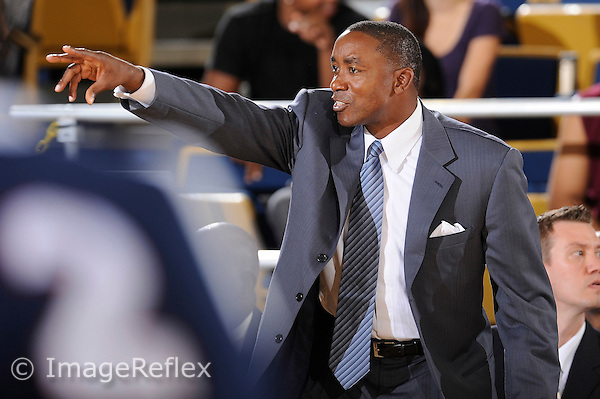 4 November 2009:  FIU Head Coach Isiah Thomas signals to his players as Northwood faced off against FIU at the U.S. Century Bank Arena in Miami, Florida.