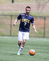 The UNC Greensboro Spartans played the University of South Carolina Gamecocks in The Manchester Cup on April 5, 2014.  The teams played to a 0-0 tie.  Lukas Zarges (7)