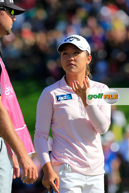 during Sunday's Final Round of the LPGA 2015 Evian Championship, held at the Evian Resort Golf Club, Evian les Bains, France. 13th September 2015.<br /> Picture Eoin Clarke   Golffile