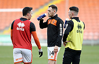 Blackpool's Harry Pritchard during the pre-match warm-up <br /> <br /> Photographer Rich Linley/CameraSport<br /> <br /> The EFL Sky Bet League One - Blackpool v Barnsley - Saturday 22nd December 2018 - Bloomfield Road - Blackpool<br /> <br /> World Copyright &copy; 2018 CameraSport. All rights reserved. 43 Linden Ave. Countesthorpe. Leicester. England. LE8 5PG - Tel: +44 (0) 116 277 4147 - admin@camerasport.com - www.camerasport.com