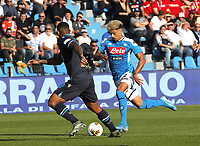 27th October 2019; Stadio Paolo Mazza, Ferrara, Emilia Romagna, Italy; Serie A Football, SPAL versus Napoli; Kevin Malcuit of Napoli controls the ball - Editorial Use