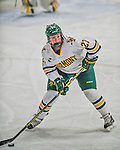 14 February 2015: University of Vermont Catamount Defender Taylor Willard, a Freshman from Naperville, IL, in third period action against the University of New Hampshire Wildcats at Gutterson Fieldhouse in Burlington, Vermont. The Lady Catamounts rallied from a 3-1 deficit to earn a 3-3 tie in the final home game of their NCAA Hockey East season. Mandatory Credit: Ed Wolfstein Photo *** RAW (NEF) Image File Available ***