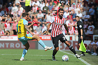 Yoann Barbet of Brentford in action during Brentford vs Rotherham United, Sky Bet EFL Championship Football at Griffin Park on 4th August 2018