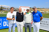 Team Gagli during the ProAm ahead of the Rocco Forte Sicilian Open played at Verdura Resort, Agrigento, Sicily, Italy 09/05/2018.<br /> Picture: Golffile | Phil Inglis<br /> <br /> <br /> All photo usage must carry mandatory copyright credit (&copy; Golffile | Phil Inglis)