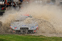 Aug. 8, 2009; Watkins Glen, NY, USA; NASCAR Nationwide Series driver Matthew Carter (61) spins off course during the Zippo 200 at Watkins Glen International. Mandatory Credit: Mark J. Rebilas-