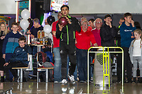 Pictured: Yan Dhanda of Swansea City during the Swansea player and fans bowling evening at Tenpin Swansea, Swansea, Wales, UK. Wednesday 22 January 2020