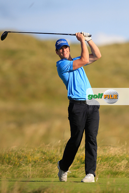 Colin Fairweather (Knock) on the 2nd tee during Matchplay Round 3 of the South of Ireland Amateur Open Championship at LaHinch Golf Club on Saturday 25th July 2015.<br /> Picture:  Golffile | TJ Caffrey