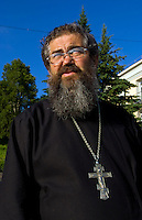 Portrait of Russian Orthodox priest, Listvyanka near  Irkutsk, Siberia, Russia